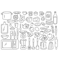 Cooking tools and ingredients food prepare vector
