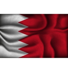 crumpled flag of Bahrain on a light background vector image