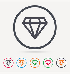 diamond icon jewelry gem sign vector image