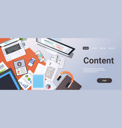 digital content management information technology vector image