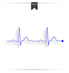 Ekg symbol on white - medical background vector
