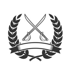 Emblem template with sabers design element for vector