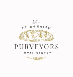 Fresh bread purveyors abstract sign symbol or vector