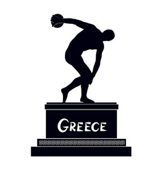 Greek famous statue discobolus ancient greece vector
