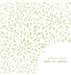 green leaves explosion textile texture frame vector image