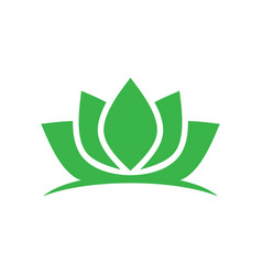 green lotus spa meditation logo vector image