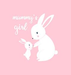 hand drawn bunny print design vector image