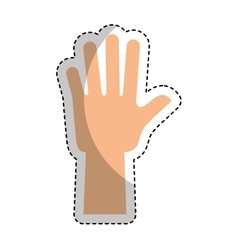 Hand human up isolated icon vector