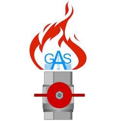 Icon gas industry 3 vector image