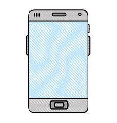 isolated smart cellphone vector image