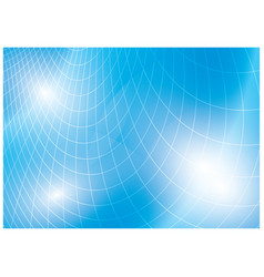 Light blue background with curved grid vector