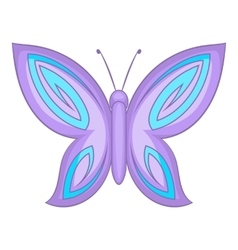 Lovely butterfly icon cartoon style vector
