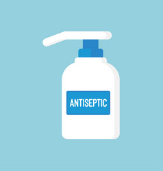 Medical disinfection antiseptic in flat style vector