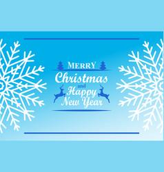 merry christmas happy new year inscription decor vector image