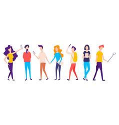 millennial generation millennial teenagers vector image