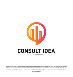 modern building consulting agency logo design vector image
