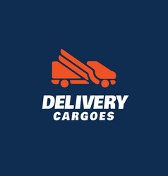 modern professional logo delivery cargoes vector image