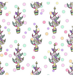 multicolored seamless christmas pattern - varied vector image