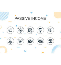Passive income trendy infographic template thin vector