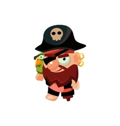 Pirate Captain Toy Icon vector
