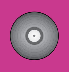poster of vinyl player record with rainbow colors vector image