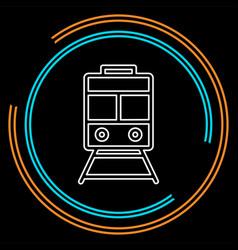 railway icon - train - rail station vector image