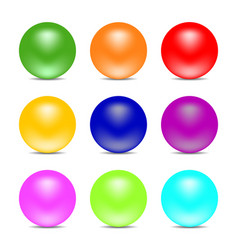rainbow color balls isolated on white background vector image