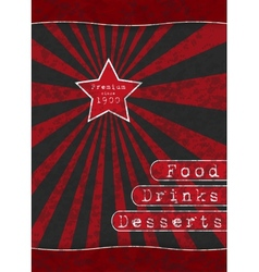 Red Star - Special Menu vector image