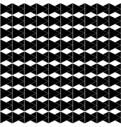 Rhombus white and black seamless pattern vector image