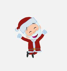 Santa claus jumping for joy vector