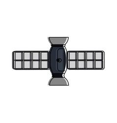satellite telecommunications related icon image vector image