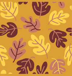 seamless autumn pattern fall leaves vector image