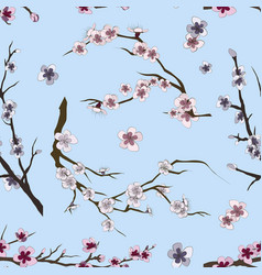 set of sakura japan cherry pattern vector image