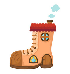 Shoe house vector