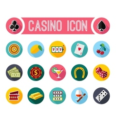 slot machine symbols set vector image