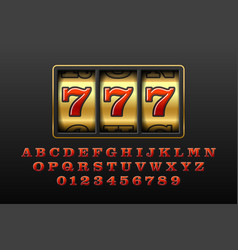 slot machine with lucky seventh jackpot vector image