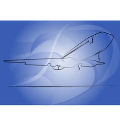 takeoff vector image