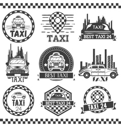 Taxi company labels in vintage style Design vector image