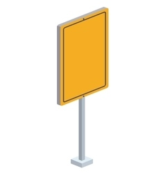 traffic signal isometric icon vector image