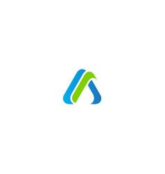 triangle abstract shape company logo vector image