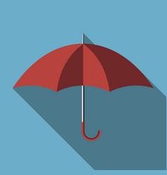 umbrella with long shadow vector image