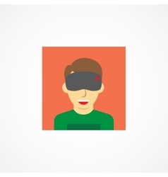 Virtual reality icon vector