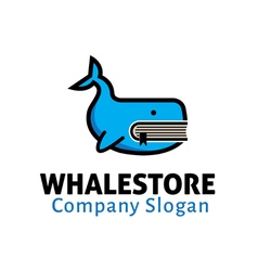 Whale Store Design vector image