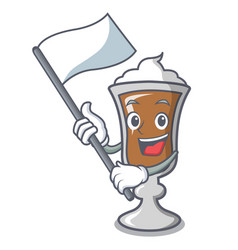 with flag irish coffee mascot cartoon vector image