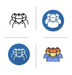 Workers icons vector