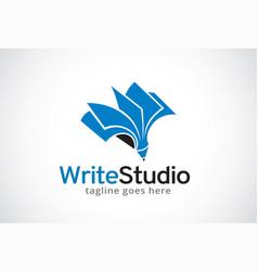 Write studio logo template design vector