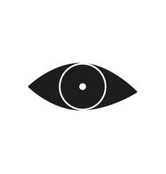 black eye view icon vector image