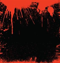 Bloody border vector image vector image