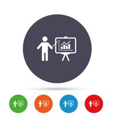 presentation billboard sign icon diagram symbol vector image vector image
