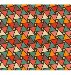 Retro pattern of triangle shapes vector image